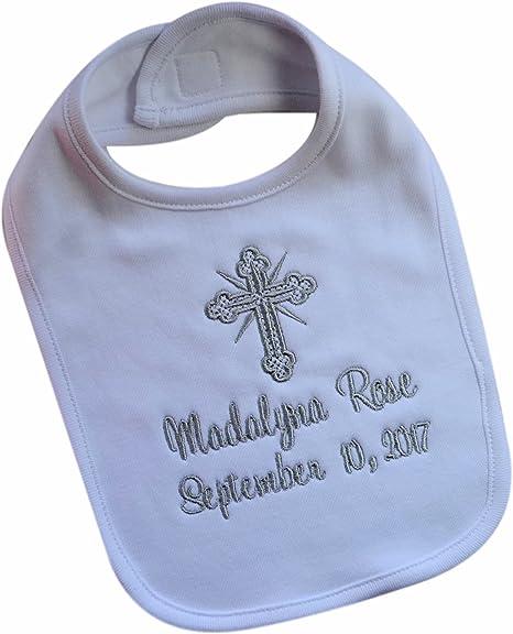 Sur Votre Baptême//Baptême Jour Avec personnalisée nom et date-Bavoir Bébé...
