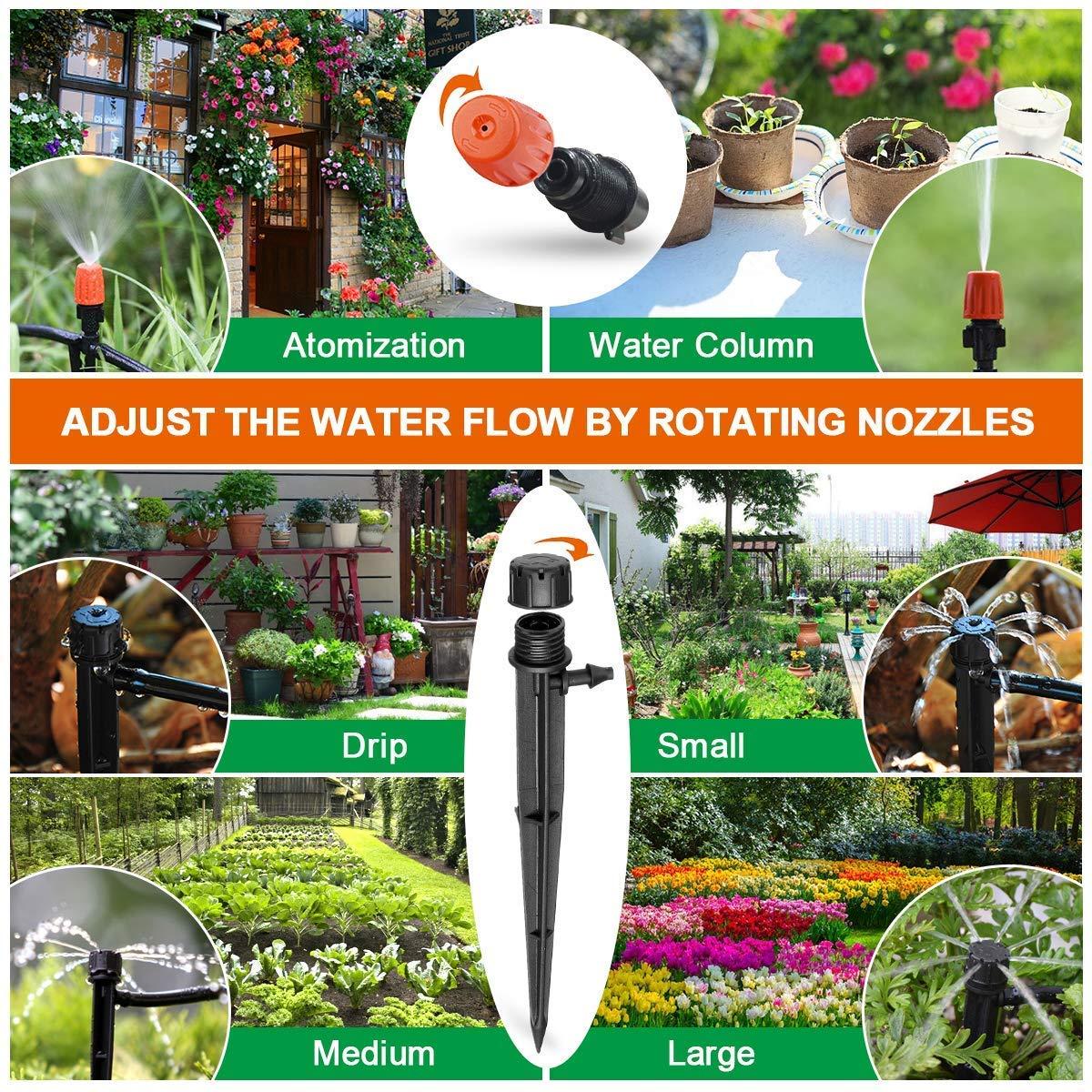 Amazon.com: PATHONOR Kit de riego por goteo para plantas con ...