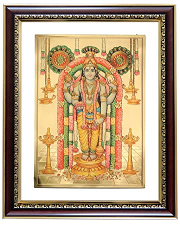0c71b3c7b3c4 Buy GoldArt Guruvayurappan Gold Foil Photo Frame   Wall Hangings SYCL S4  Online at Low Prices in India - Amazon.in