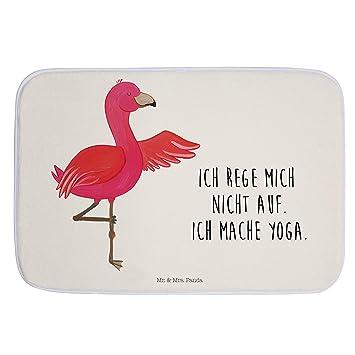 Mr Mrs Panda Rutschfest Badteppich Badvorleger Flamingo Yoga