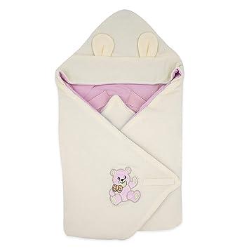 BlueberryShop Thermo Terry manta con capucha para envolver al bebé en coche | Saco de dormir para bebés recién nacidos | Regalo perfecto para Baby ...