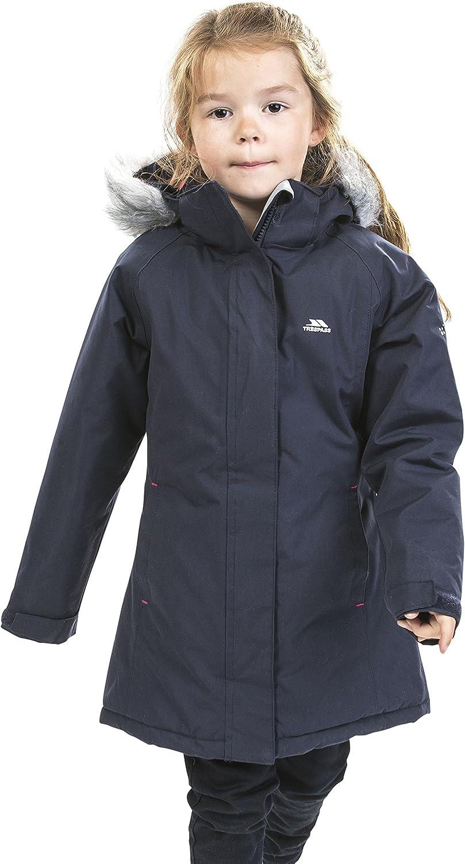 Trespass Fame Girls Waterproof Jacket Lightly Padded