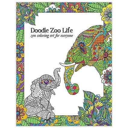 tree-free greetings libro de colorear para adultos: animales del zoo ...