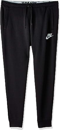 Nike Women's Rally Jogger Pants (Black/Black/White, X-Large)