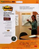 """Post-it Self-Stick Wall Pad Notes, 20"""" x 23"""", 2 Pads, 20 Sheets/Pad, White Paper w/ Command Hanging Strips"""