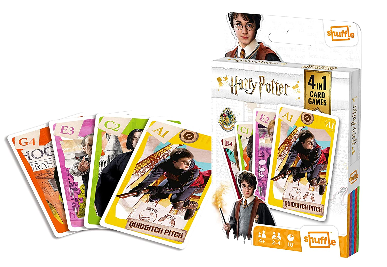 Juego de Cartas 4 en 1 de Harry Potter de Shuffle Fun ...