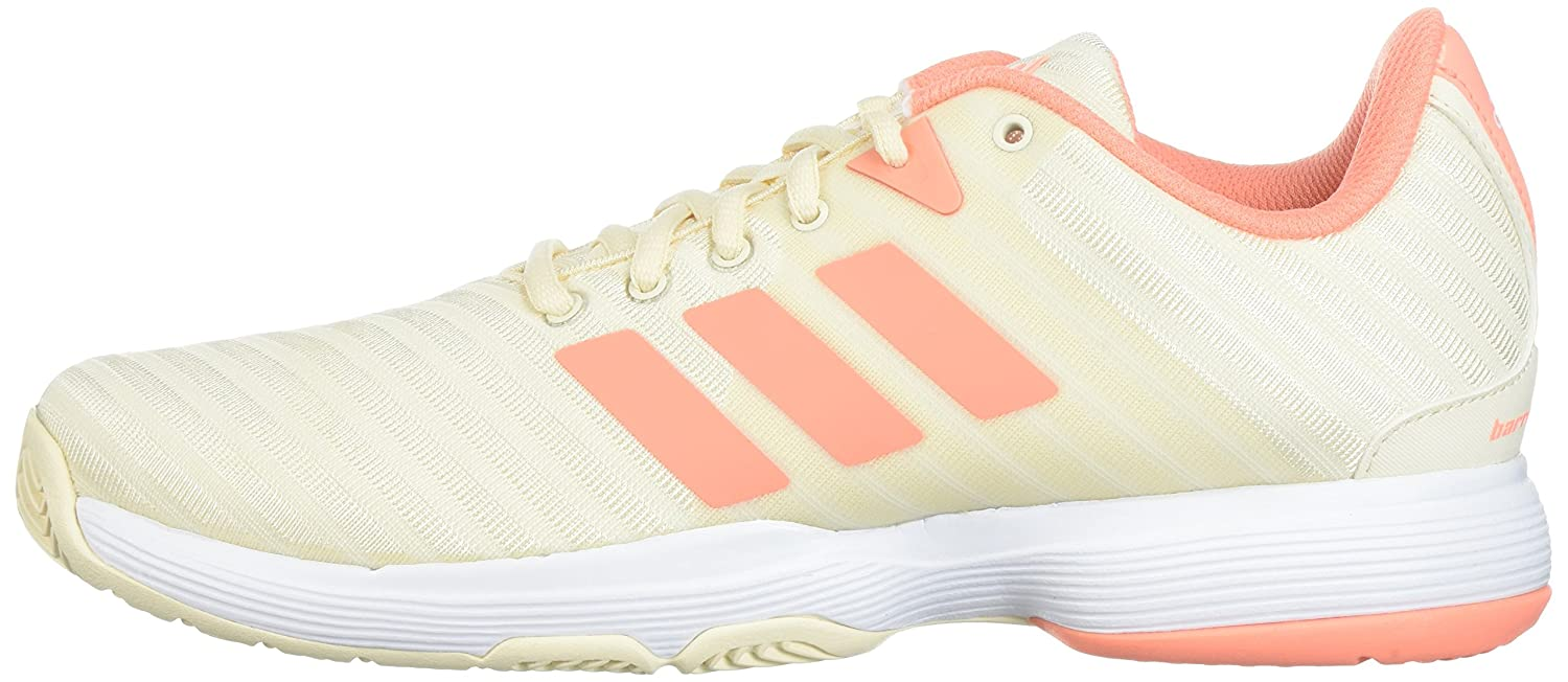 adidas Women's Shoe, Barricade Court w Tennis Shoe, Women's White/Matte Silver/Grey Two, 6.5 M US B07234JZZZ 5.5 B(M) US|Ecru Tint/Chalk Coral/White dd8af0