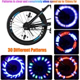 Bright LED Bike Wheel Lights - Spoke Lights Including Battery 30 Different Patterns Waterproof(IP55) Safety Bicycle wheel light by Taktik Easy to Install Auto Open and Close