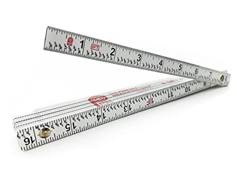 Perfect Measuring Tape Co FR 72 Carpenter S Folding Rule Lightweight Composite Construction Ruler With Easy Read Inch Fractions 2m