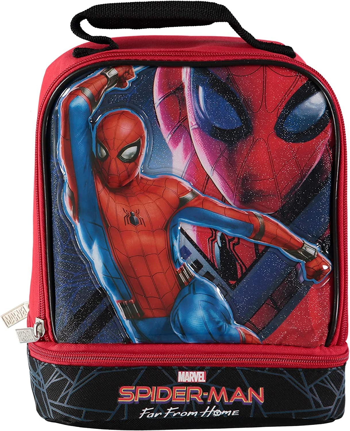 Amazon Com Spiderman 3d Molded Dual Compartment Insulated Lunch