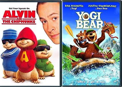 Amazon com: Bear Live Action Kids Alvin & The Chipmunks + Yogi Bear