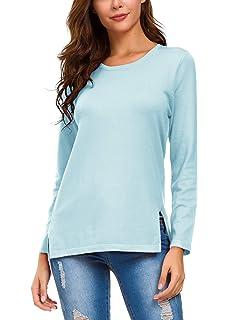 989fb0444cb50 Womens Merona Long Sleeve Crewneck Sweater Blue L at Amazon Women s ...