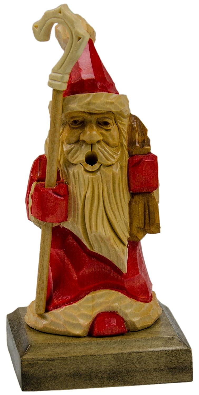Holzfigur Räuchermann Weihnachtsmann 17cm handgeschnitzt aus Lindenholz