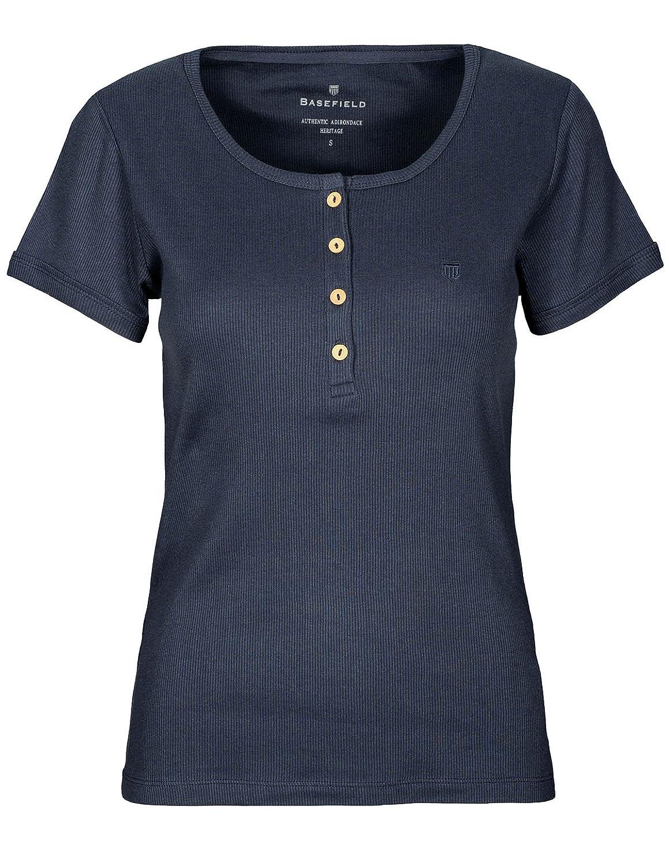 539302b348d11c BASEFIELD Damen Ripp-Shirt 1/2 Arm-91 L (222031124): Amazon.de: Bekleidung