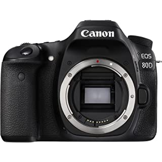Canon EOS 80D 24.2MP Digital SLR Camera  Black  Body + Memory Card Digital SLR Cameras