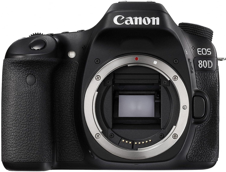 Canon EOS 80D 24.2MP Digital SLR Camera  Black  Body + Memory Card Digital SLRs