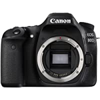Canon 1263C036 EOS 80D Body Only Digital SLR Camera - Black