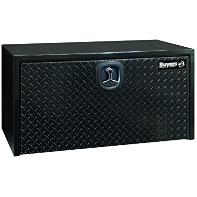 Buyers Products Black Steel Underbody Truck Box w/ Aluminum Door (18X18X30 Inch): Automotive