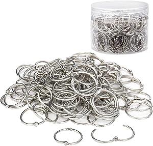 110 Pack Binder Rings 1 Inch, Loose Leaf Rings Nickel Plated Metal Key Ring for School, Home, Office Scrapbook Note Paper Index Cards Binding