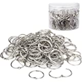 110 Pack Binder Rings 1 Inch, Loose Leaf Rings Nickel Plated Metal Key Ring for School, Home, Office Scrapbook Note…