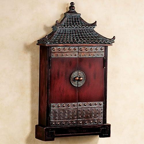 Oriental Pagoda Key Wall Cabinet Bronze
