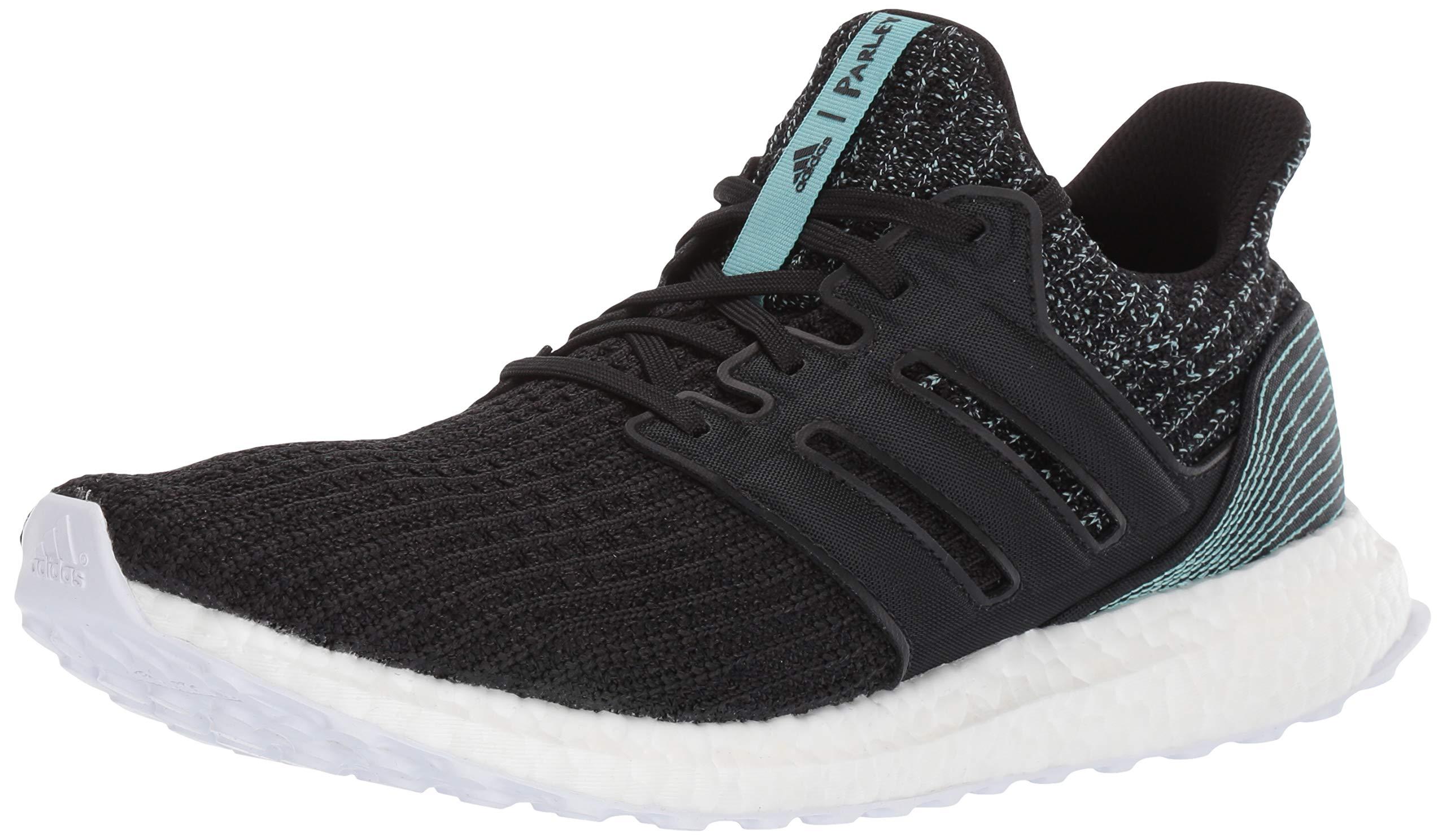 adidas Men's Ultraboost Parley Running Shoe, Black/White, 6.5 M US
