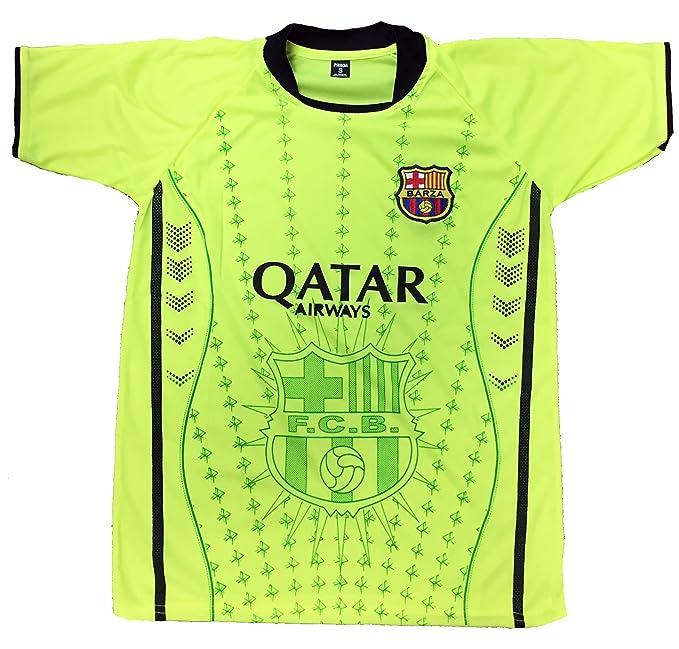 huge selection of 71945 990ed Men FC Barcelona FCB Jersey Soccer Football Lime Green ...