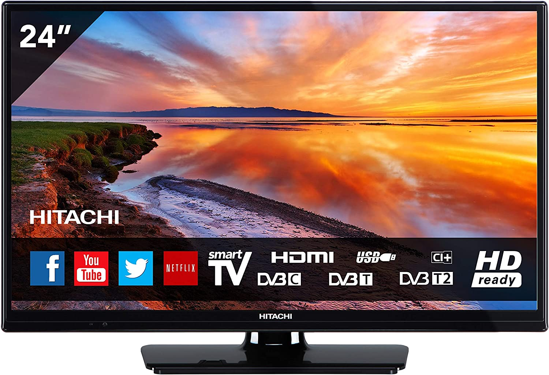 HITACHI 24HB4T65 TELEVISOR 24 LCD LED HD Ready 400Hz Smart TV WiFi LAN HDMI USB Reproductor Multimedia: Amazon.es: Electrónica