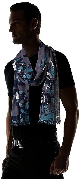 f152a6492a04 BOSS Orange 10196810 01, Echarpe Homme, Bleu (Dark Blue), Taille unique  (Taille fabricant  STCK)  Amazon.fr  Vêtements et accessoires