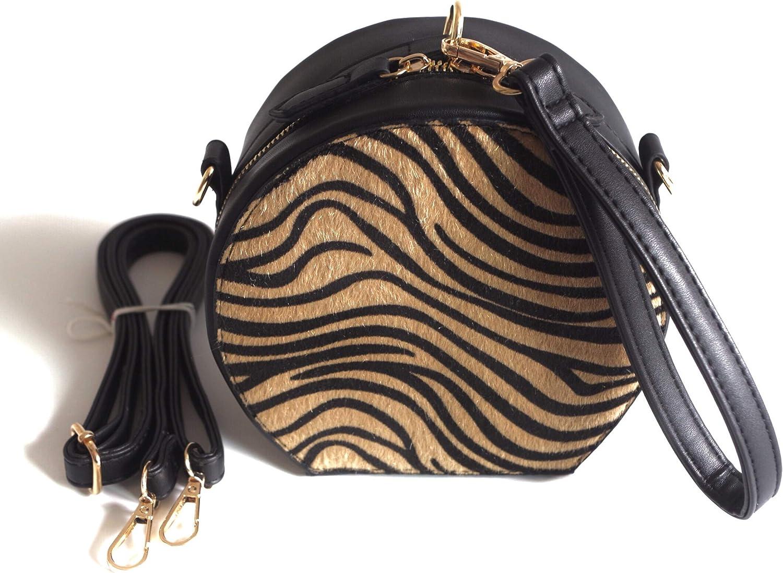 Naife womens zebra pattern crossbody top handle handbags