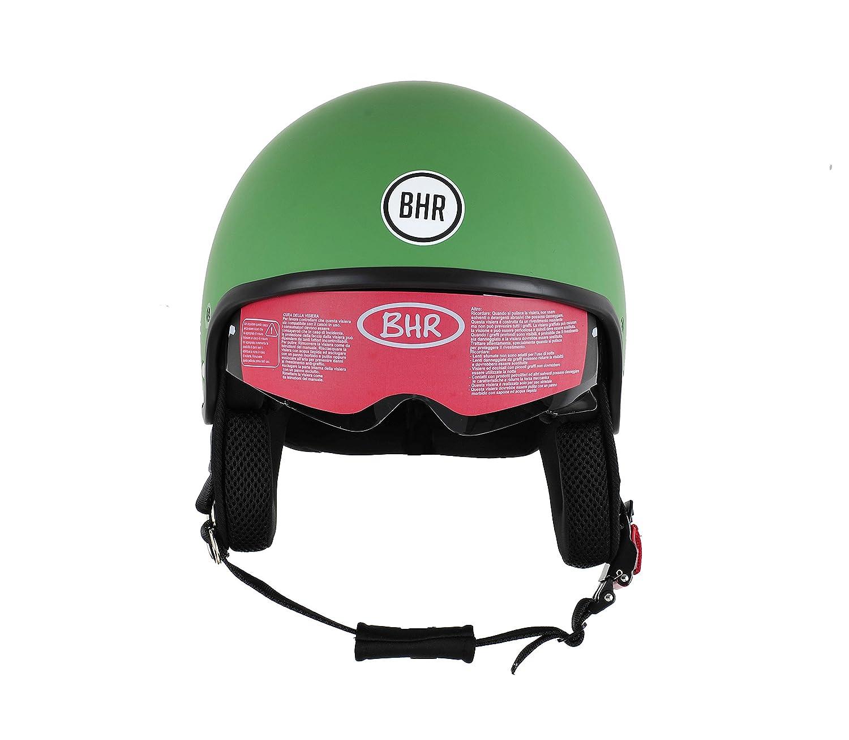 BHR Motorrad Helm 802 Demi-Typ mit Visier Versenkbare,Roter Stern,M