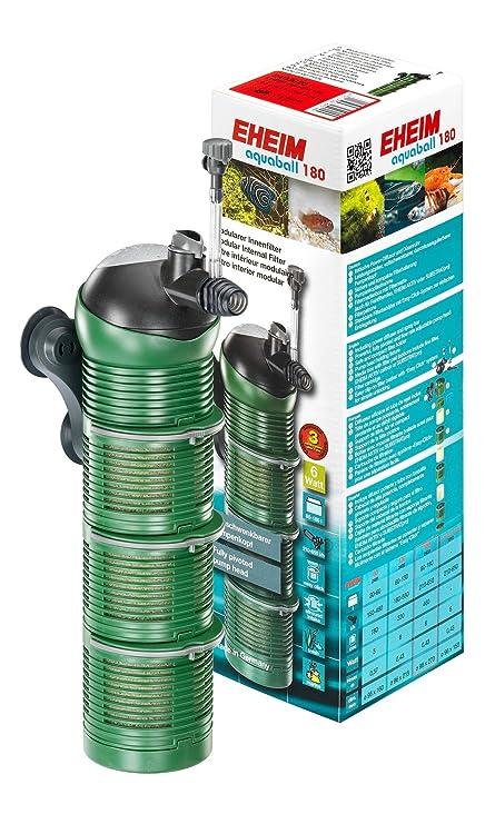Eheim 2403020 Aquaball 180 - Filtro interior con 3 cartuchos de filtro y caja de medios