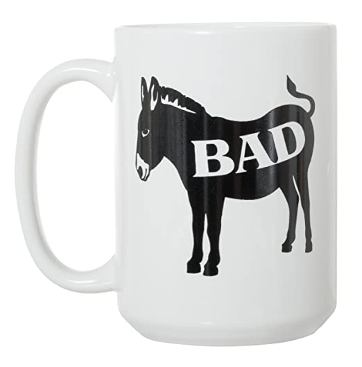 Amazon.com: Bad Ass Funny grande de 15 oz de doble cara café ...