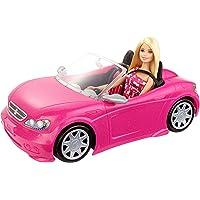 Barbie DJR55 - Poupée Barbie et cabriolet Rose