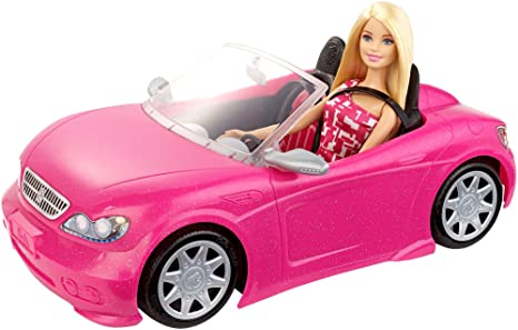Amazon Com Barbie Convertible And Doll Pack Amazon Exclusive