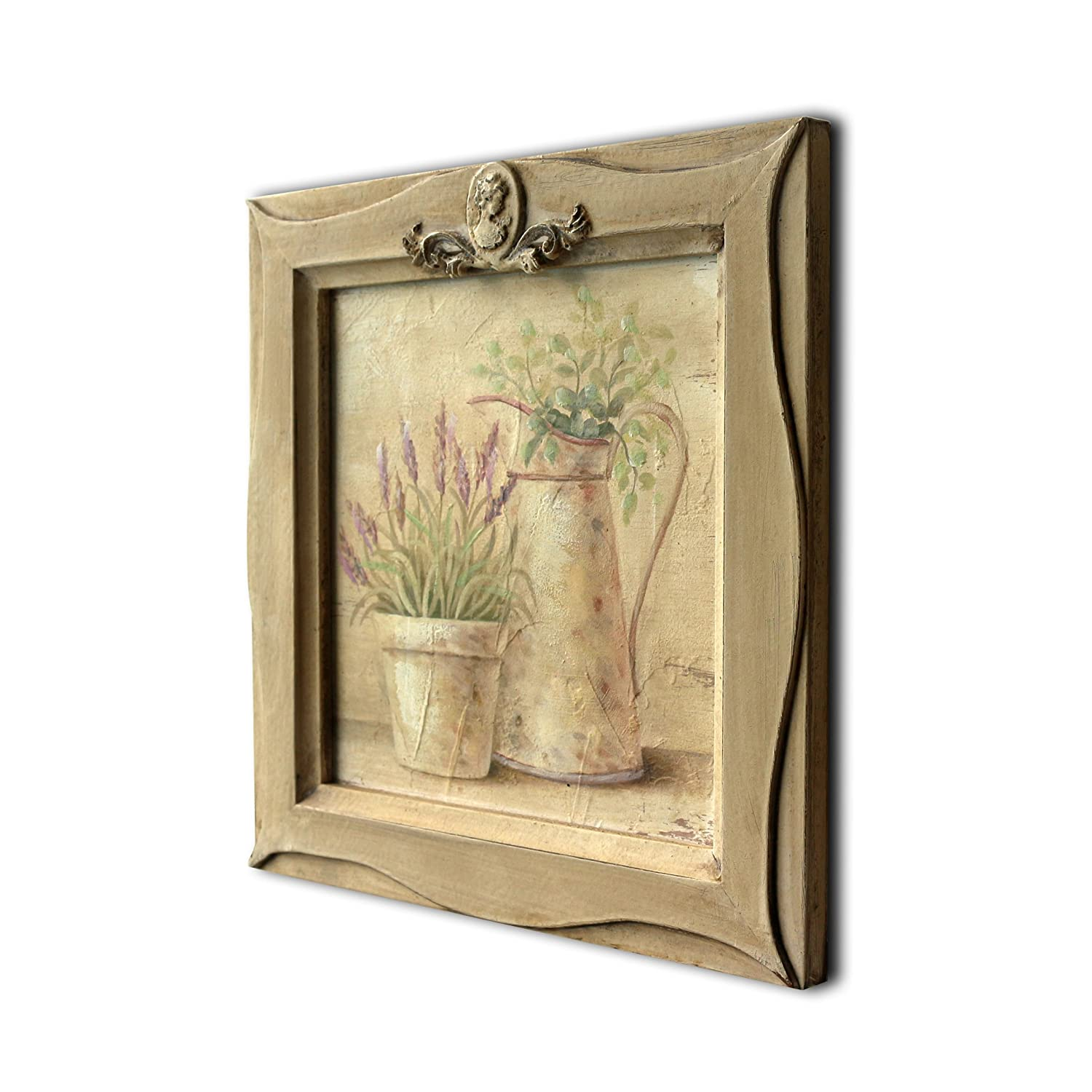 Amazon.com - CVHOMEDECO. Country Vintage Hand Painted Wooden Frame ...
