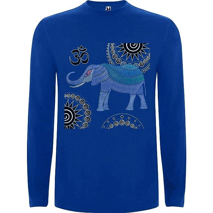 Lilij Camiseta Hombre Manga Larga Elephant Ganesha Mandala ...