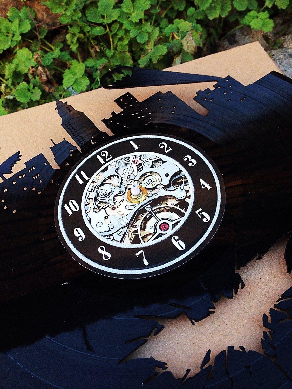 Shinestore - Reloj de pared con diseño de bomberos y texto en inglés