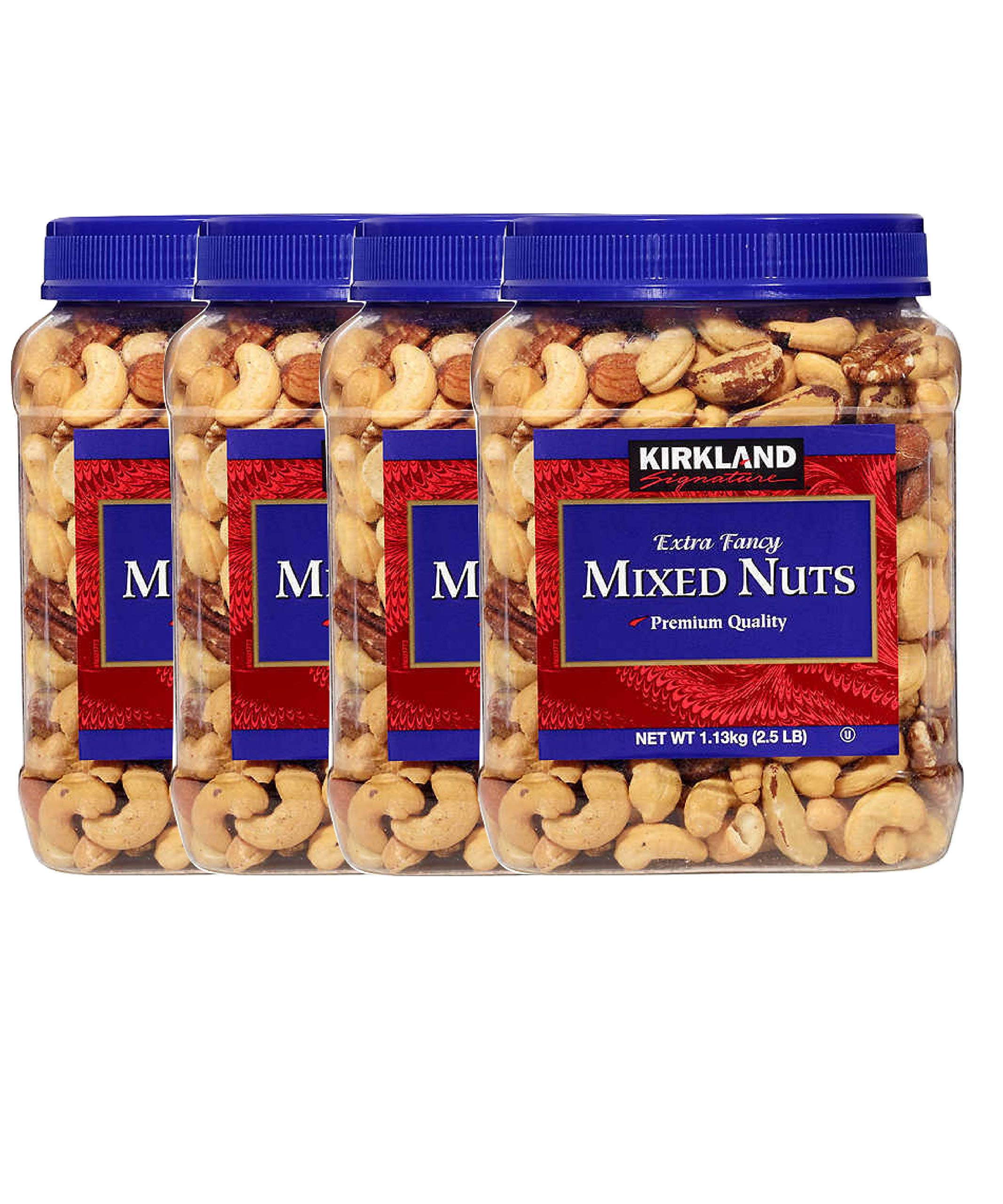 Kirkland Signature Extra Fancy Mixed Nuts, Salted and Shelled 40 oz (Pack of 4)