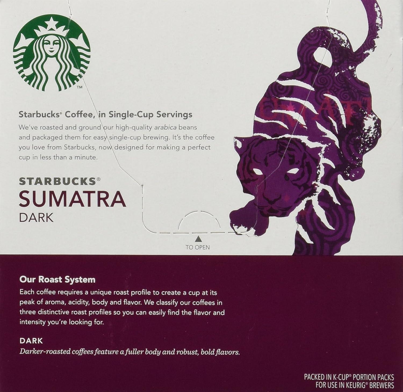 Keurig Starbucks Sumatra Dark Roast 16-Count K-Cups, 6.7oz: Amazon ...