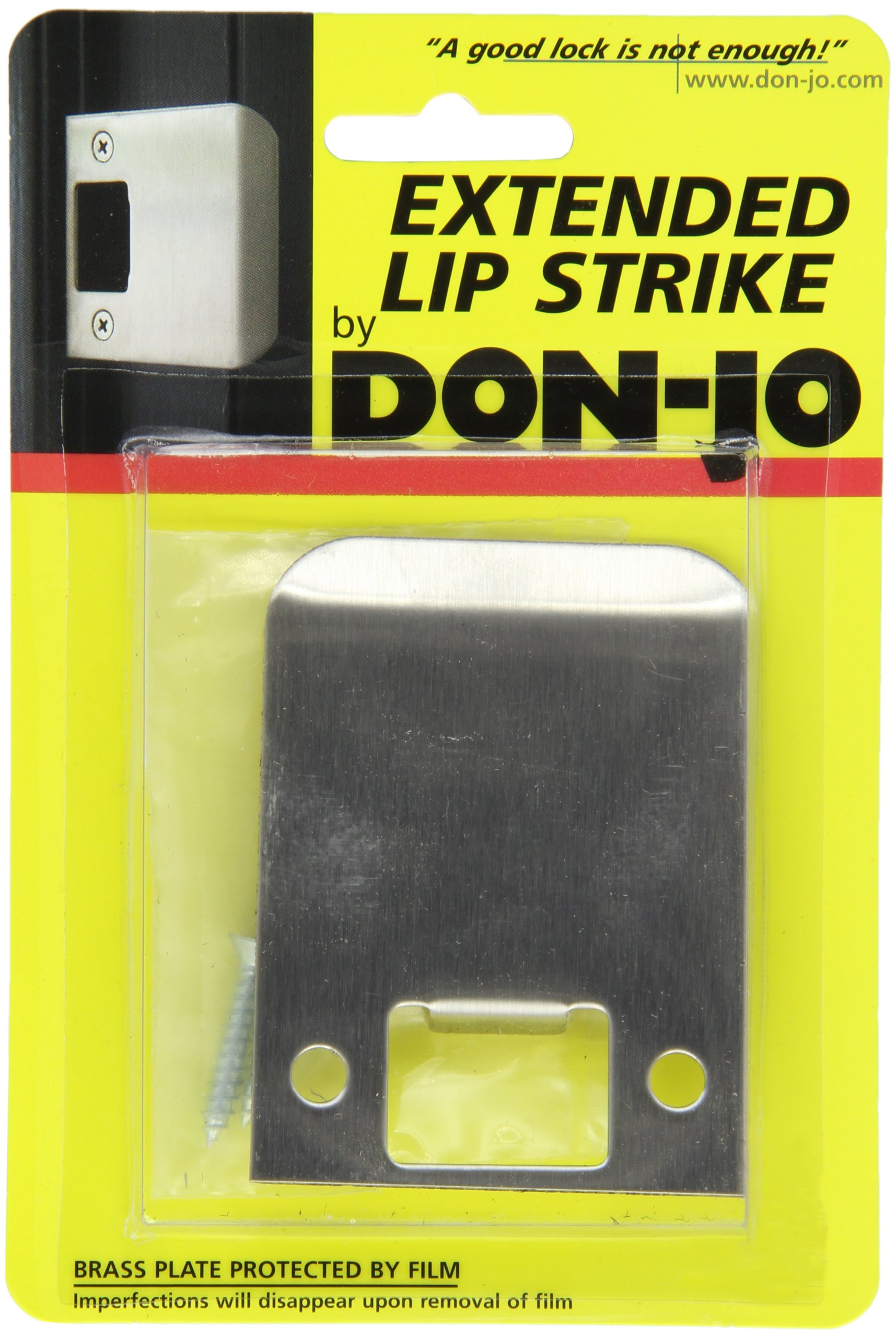 Don-Jo EL 125 18 Gauge Extended Lip Strike, Satin Stainless Steel Finish, 2-1/2'' Width x 2-1/4'' Height (Pack of 10)
