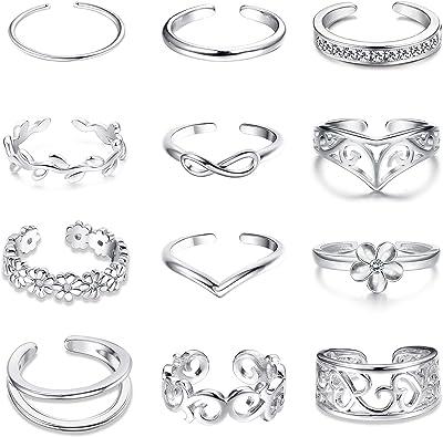 Amazon.com: Jstyle - Juego de 8 – 12 anillos ajustables para ...
