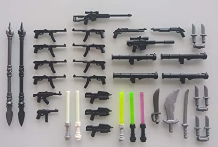 Weapons LEGO Minifigures and Accessories Glow in the dark. Guns Brand New
