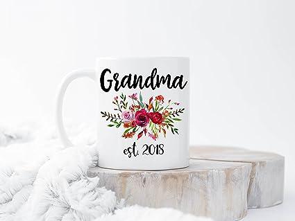 custom new grandma mug grandmother gift christmas gifts for grandma est 2018 pregnancy reveal to grandparents