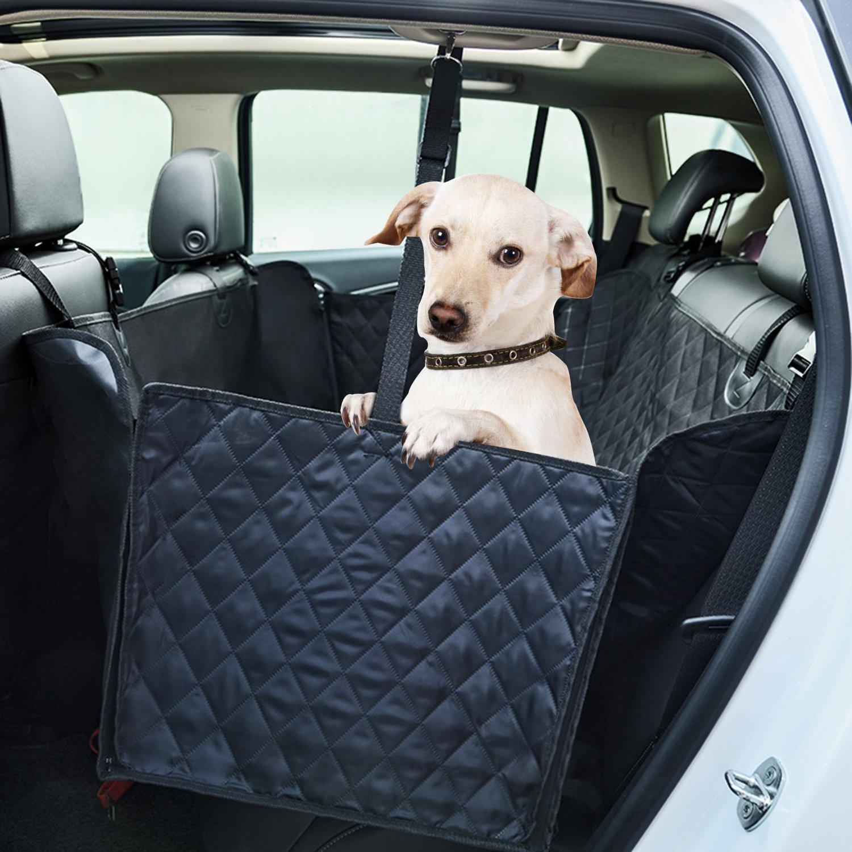 APlus Coprisedile Amaca Auto per Cani Impermeabile Grande con Protezioni Laterali Base Antiscivolo Morbido, Universale per Tutte le Auto, SUV