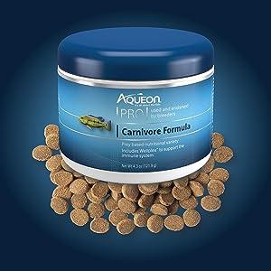 Aqueon Pro Carnivore Formula Fish Food Pellets
