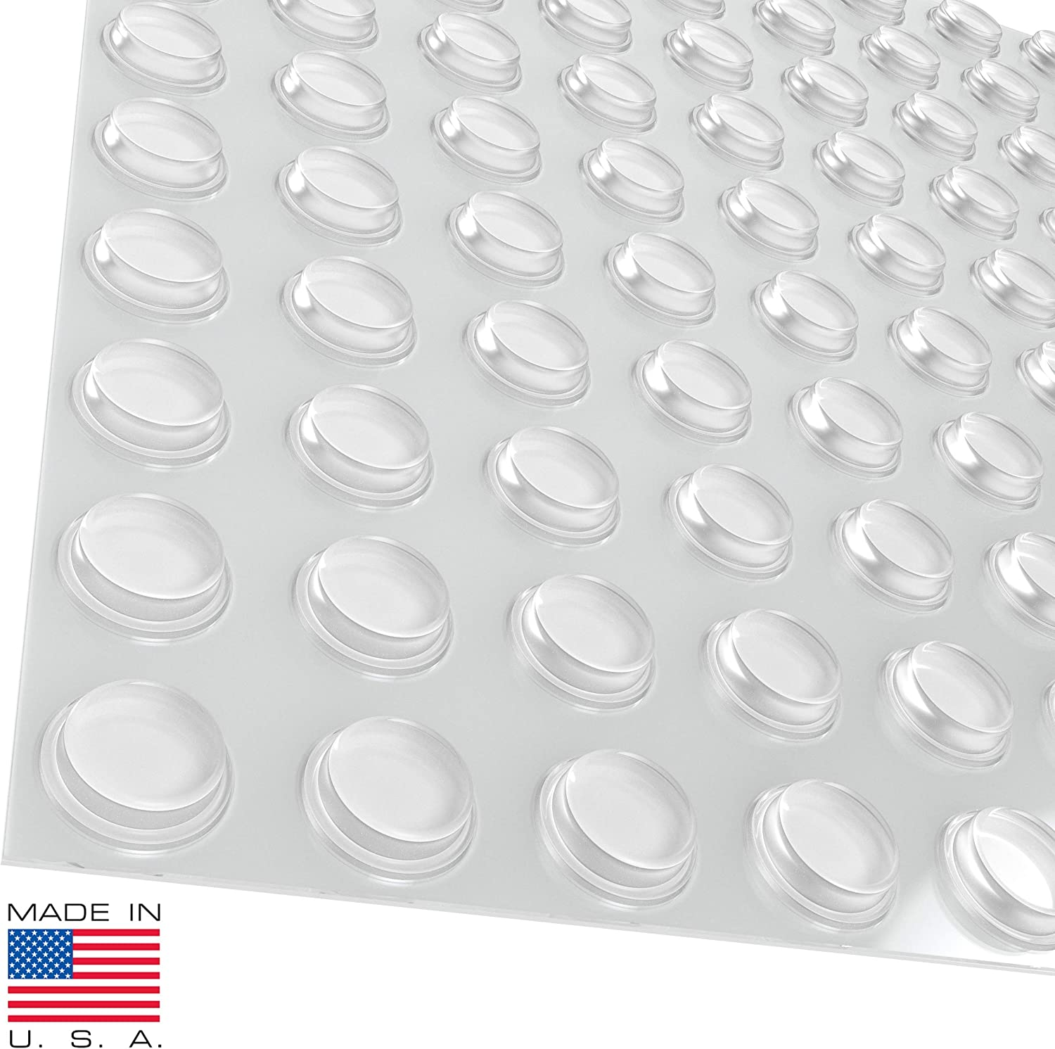 "40pc 3//8/"" Surface Saver Plastic Adhesive Bumper Pads-Protects Floors /& Furniture"
