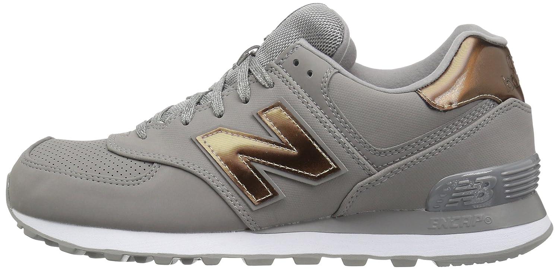 New Balance Sneaker Women's 574v1 Varsity Sport Sneaker Balance B01N66IF3G 5.5 B(M) US|Grey/Metallic Silver 2b26f6