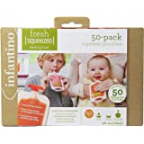 Infantino Fresh Squeezed Feeding Line 50-Pack Squeeze Pouches #2081002