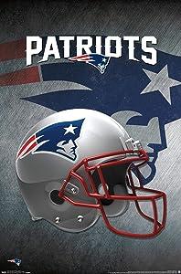 Trends International NFL New England Patriots - Helmet 16 Wall Poster, 22.375